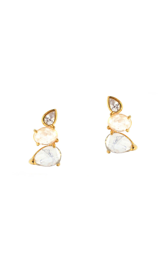 Mixed Crystal Stud Earring