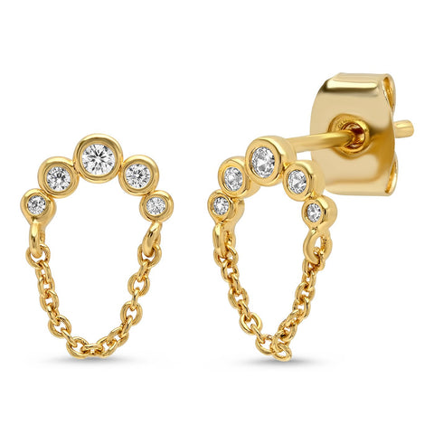 Tai Jewelry Dangle Chain Stud Earrings