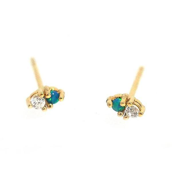 Tai Jewelry Green Glass & CZ Studs