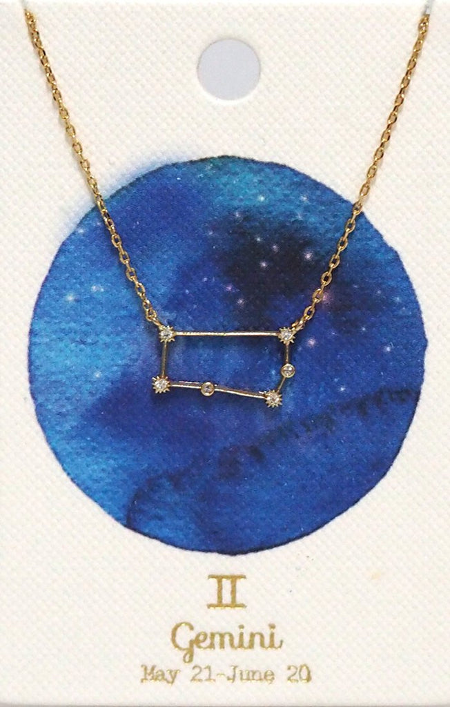 Zodiac Constellation Necklace - Gemini Tai Jewelry