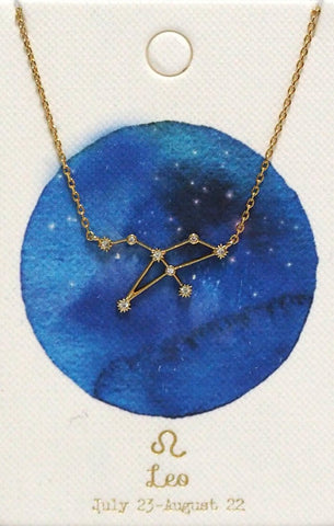 Zodiac Constellation Necklace - Leo Tai Jewelry