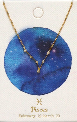 Zodiac Constellation Necklace - Pisces Tai Jewelry