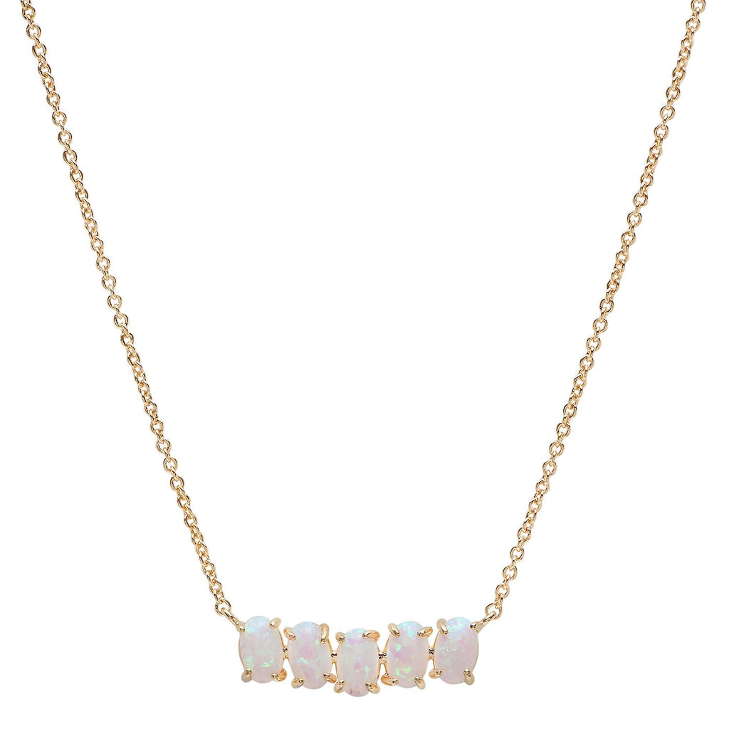 Tai Gold Birthstone Necklace - October
