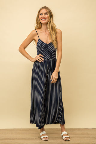 Adela Striped Jumpsuit