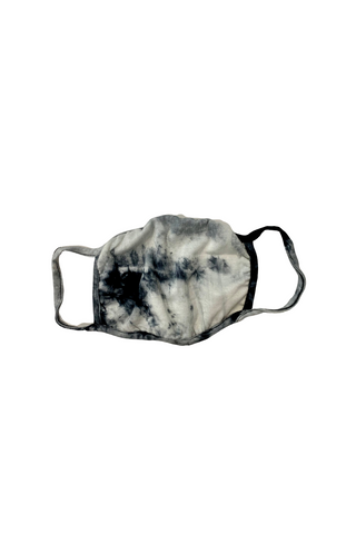 Adult: Reusable Face Mask, Grey/Black Tie-Dye