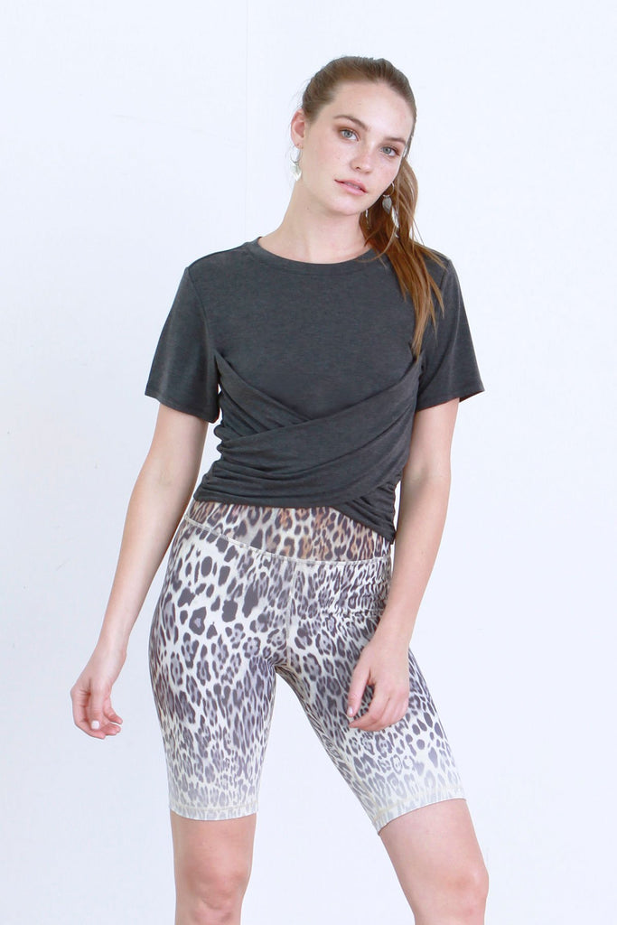 Lin Cropped Wrapped Tee