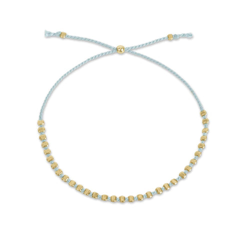 Dogeared Friendship Bracelet In Light Blue & Gold