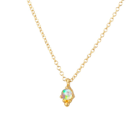 Dogeared Itty Bitty Opal Necklace