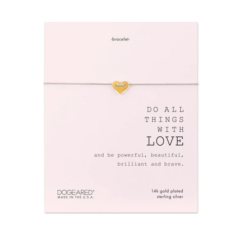 Dogeared 'Do All Things With Love' Bracelet
