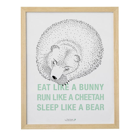 """Eat Run Sleep"" Wall Decor"