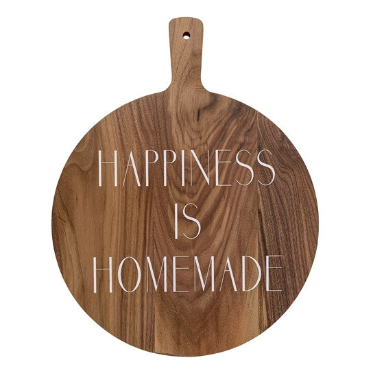 """Happiness is Homemade"" Acacia Wood Cutting Board"