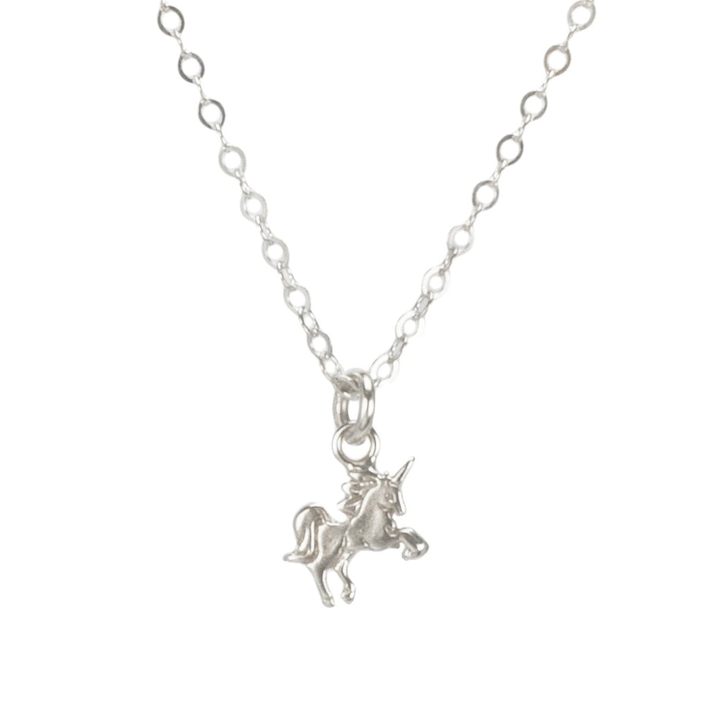 Dogeared Mini Unicorn Necklace In Silver In Silver
