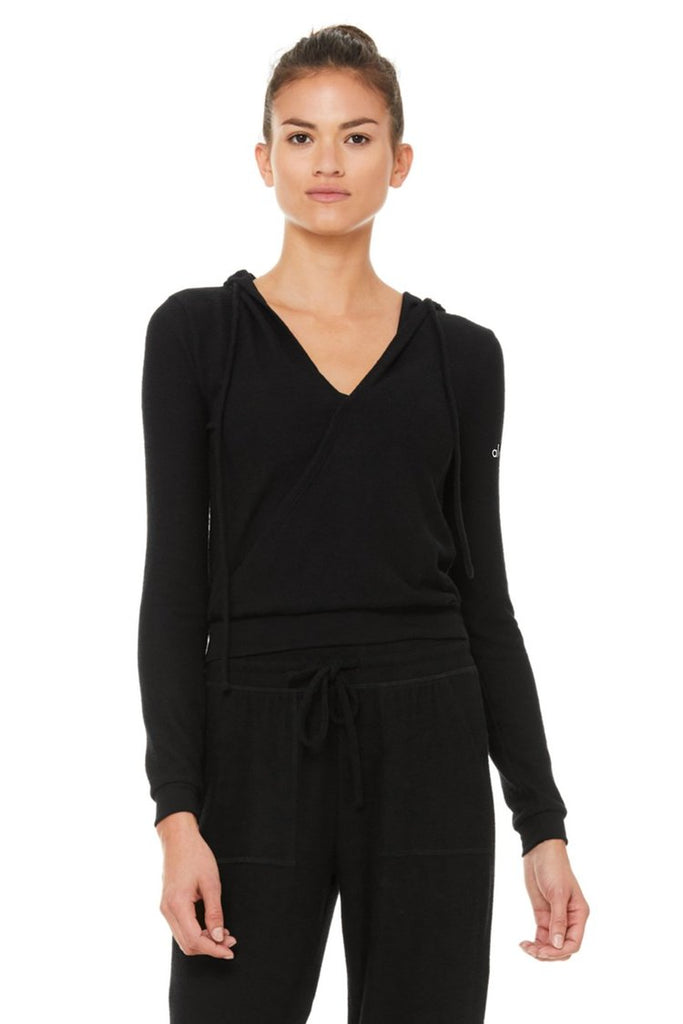 The Wrap Hoodie By Alo, Black