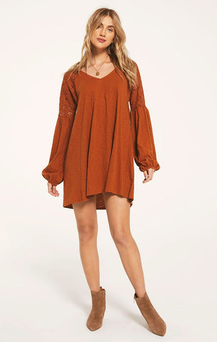 Genesee Tunic Dress, Rich Caramel