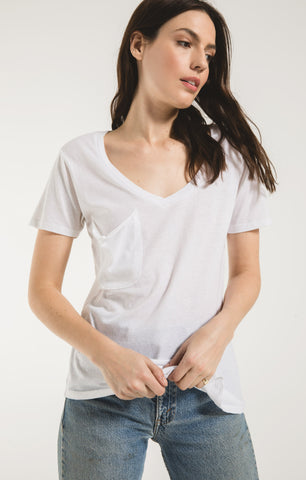 The Pocket Tee In White