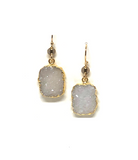 Alexi White Druzy Earrings
