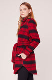 Wild and Wooly Plaid Coat in Bright Red