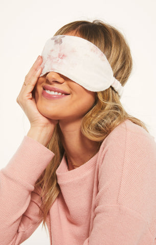 Floral Sleep Eye Mask, Bone