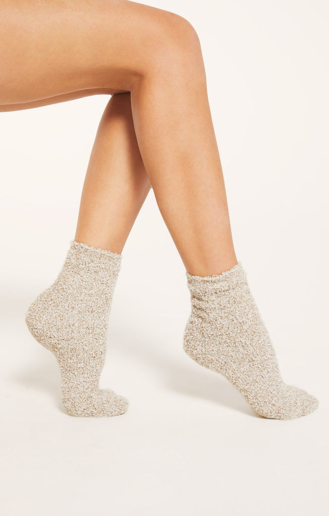 Plush Socks 2-Pack, Bone