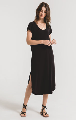 Leira Midi Dress In Black
