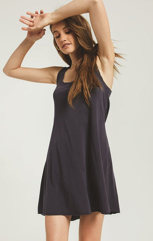 Avery Jersey Dress, Washed Black