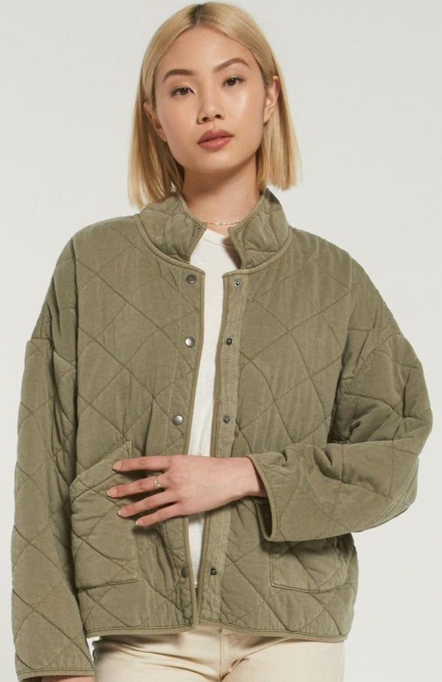 Maya Quilted Jacket, Olive