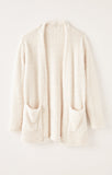 Carrie Eyelash Cardigan, Bone