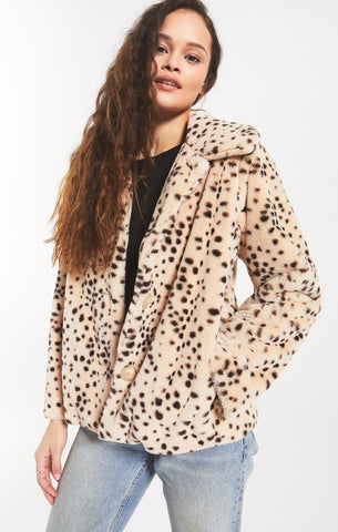 Aster Dot Jacket, Light Taupe