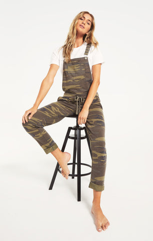 French Terry Overall, Camo Green