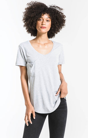 The Pocket Tee, Heather Grey