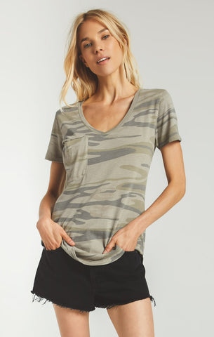 The Pocket Tee, Light Sage Camo