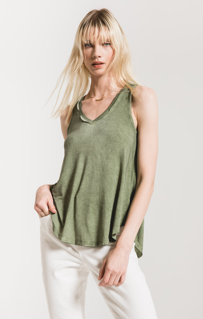 Vagabond Tank In Agave Green