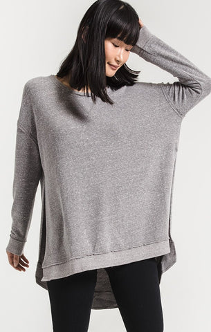 Weekender Pullover, Heather Grey