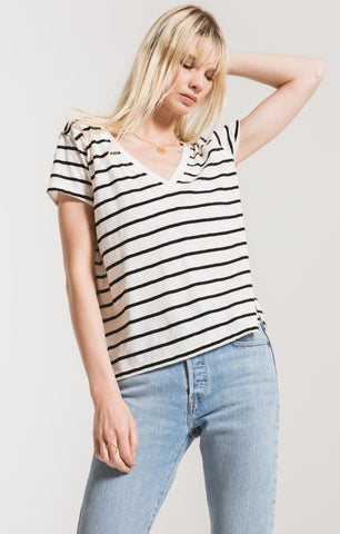 Desert Stripe V-Neck Tee