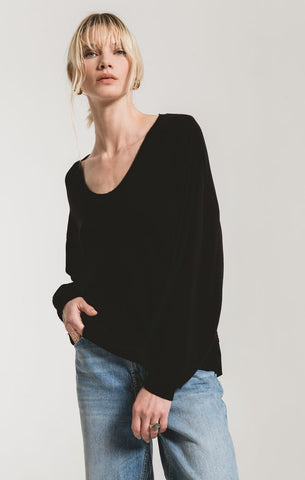 The Premium Fleece V-Neck Top