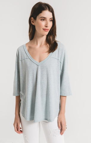 Tara Triblend Sporty Tee In Light Blue