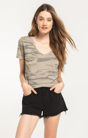 The Skimmer Crop Tee, Camo