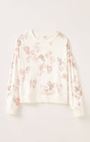 Elle Floral Long Sleeve Top, Bone
