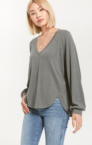 Plira Slub Sweater, Ash Green
