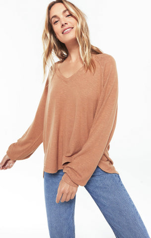 Plira Slub Sweater, Salted Caramel