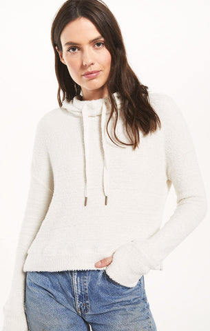 Kacey Feather Hoodie, Bone
