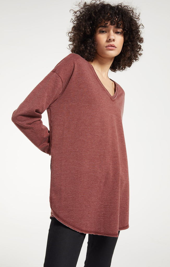 V-Neck Weekender Pullover, Redwood