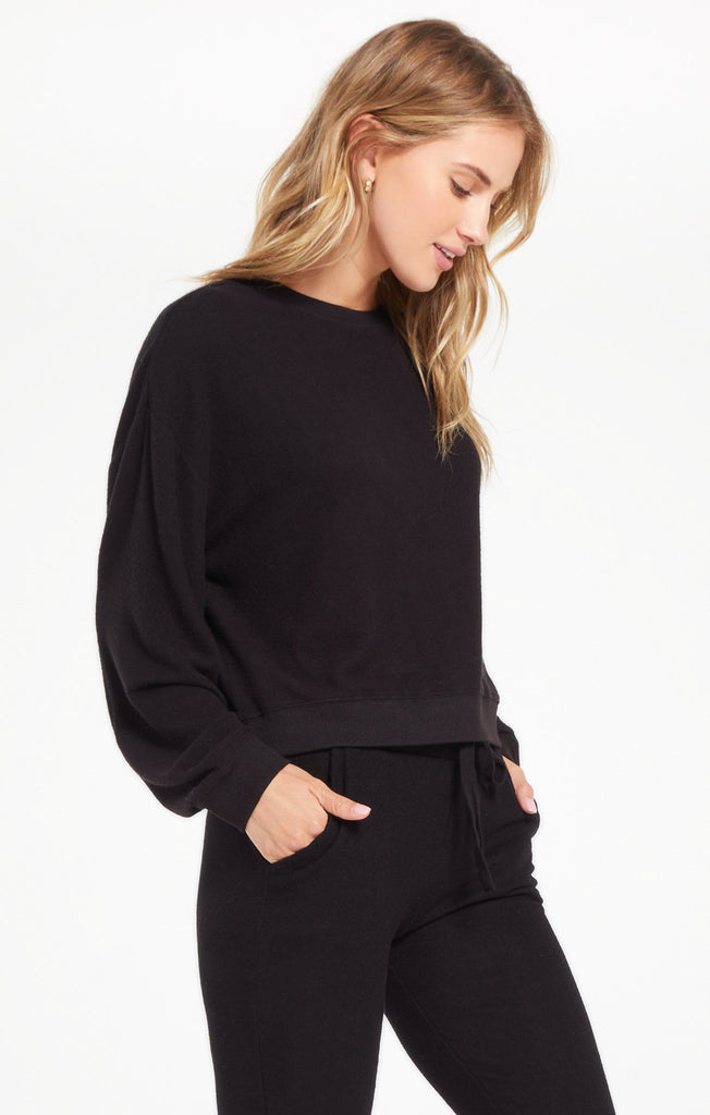 Noa Marled Top, Black