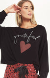 Night Owl Grateful Sweatshirt, Black