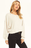 Storm Skimmer Feather Pullover, Ivory