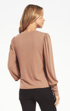 Clemente Puff Sleeve Top, Toast