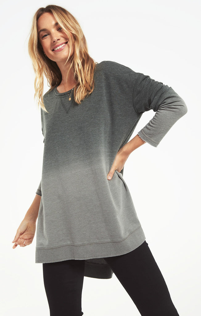 Ombre Weekender Pullover, Deep Forest