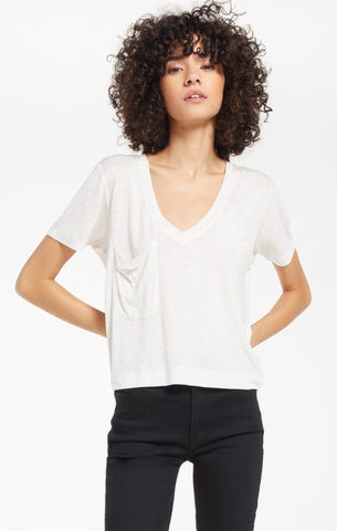 Classic Skimmer Sparkle Tee, Oatmeal