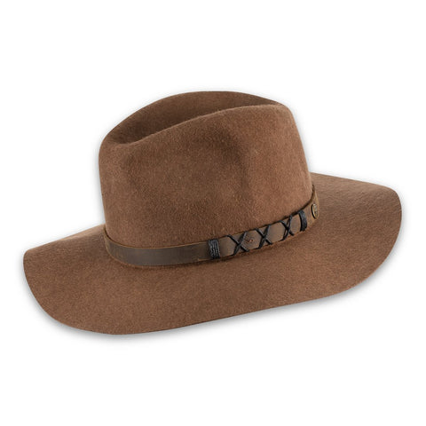 Soho Wide Brim Hat, Camel