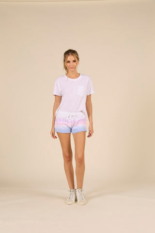 Dip Dye Burnout Shorts